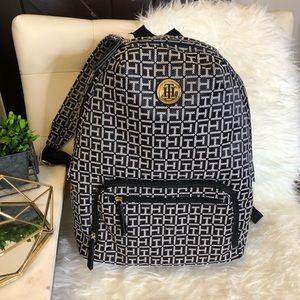 Tommy Hilfiger Logo Black Backpack